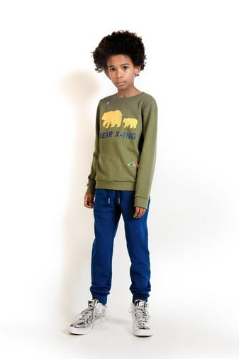 Khaki Sweater mit Print
